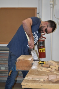 Levi Beauchamp, the Training Coordinator and Instructor from the Alberta Carpenters Training Center